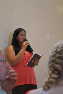 Nancy translating the sermon