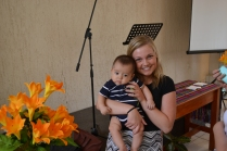 Isaías is the only baby at our church!